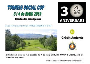 TORNEIG  SOCIAL CGP CRÈDIT ANDORRÀ 2019