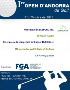 1r open d'Andorra 2015