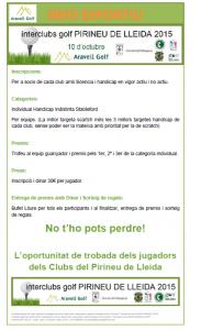 Interclubs pirineu de Lleida 2015
