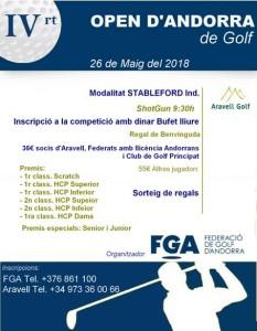 Open d'Andorra 2018
